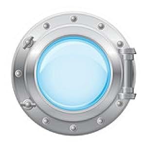 alfombrilla de ratón barco ilustración vectorial ojo de buey - ronda - 20cm