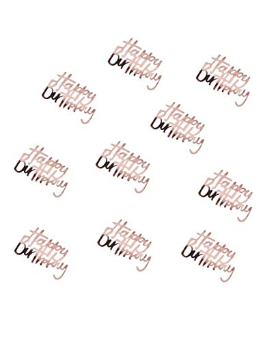 Ginger Ray Rose Gold Happy Birthday Sequin Table Confetti Party Decoration X 14G - Ditsy Floral -