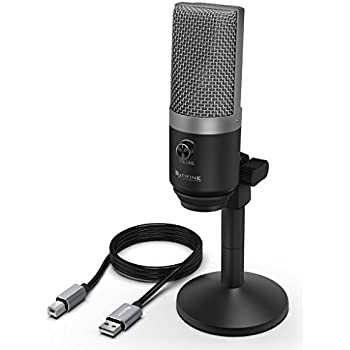 usb microphone fifine pc microphone for mac and windows computers optimized for. Black Bedroom Furniture Sets. Home Design Ideas