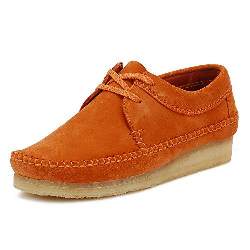 Clarks Originals Uomo Spice Arancione Weaver Scamosciato Scarpe Spice Orange