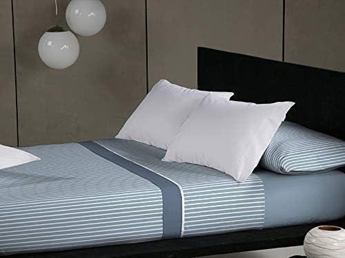 Juego de Sábanas Franela Don Algodón Rodas azul cama 90: Amazon.es: Hogar