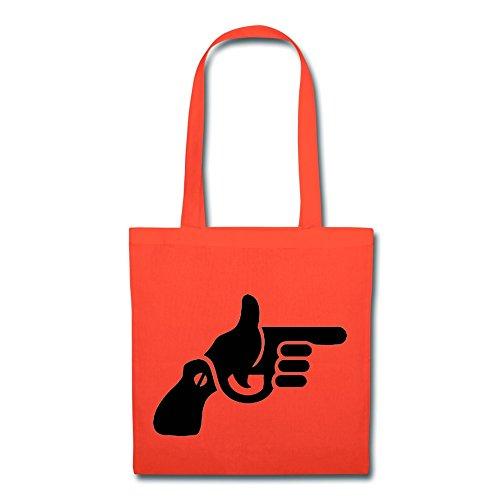 [Handson Recycled Hand Gun Carry Shopper 100% Cotton Orange] (Deluxe Gunslinger Costume)