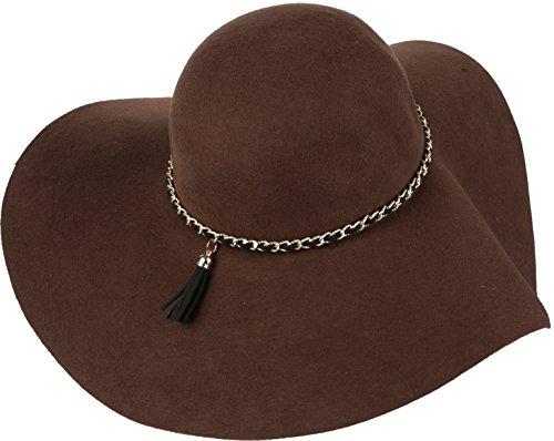 Sakkas 16154 - Liuliu Wide Vintage Style Floppy Hat Removable Interchangeable Bow Ribbon - Brown - OS