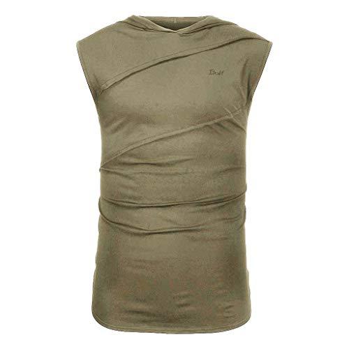 - iHPH7 Mens Vest Mens Tank top red Tank top Sleeveless Workout Shirts for Men Sleeveless Shirt Mens Sleeveless t Shirts Vest Shirt Safety Vest Sleeveless t Shirt XXL Army Green
