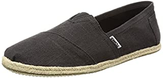 TOMS 10008356 Men's Classics Linen Rope-Sole Slip-On, Washed Black Linen, 11.5 D(M) US (B013EUIH20) | Amazon price tracker / tracking, Amazon price history charts, Amazon price watches, Amazon price drop alerts
