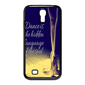 Creative Design Dance quote Background Case Cover for SamSung Galaxy S4 I9500- Personalized Hard Cell Phone Back Protective Case Shell-Perfect as gift