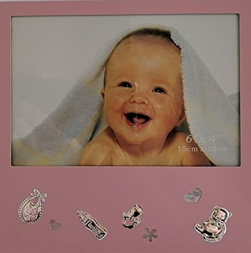 New Baby Girl Gift - Little Princess Baby Pink Picture Frame (6.2 x 6.2) - Holds 6 x 4 Photo Elegance