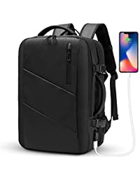 Travel Backpack,WUAYUR 15.6inch Laptop Backpack w/USB Port,40L Carry On Luggage (Black)