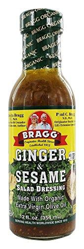 Ginger & Sesame Organic Salad Dressing Bragg 12 oz Liquid (Sesame Ginger Dressing)