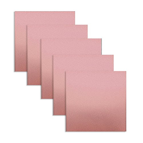 Rose Gold Metallic Vinyl Adhesive 12 x 12 Sheets | 5 Pack | 5 Feet Total