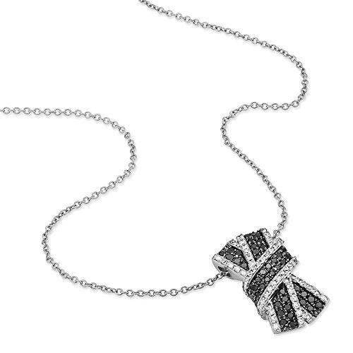 HISTOIRE D'OR - Collier Nola Or Blanc Noeud et Diamants - Femme - Or blanc 375/1000