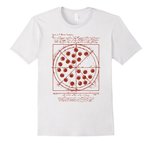 820e1069c Men's Vitruvian pizza t shirt Medium White - Buy Online in UAE. | Apparel  Products in the UAE - See Prices, Reviews and Free Delivery in Dubai, Abu  Dhabi, ...