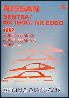 1992 nissan sentra \u0026 nx 1600 2000 wiring diagram manual original 1997 Nissan Pickup Wiring Diagrams