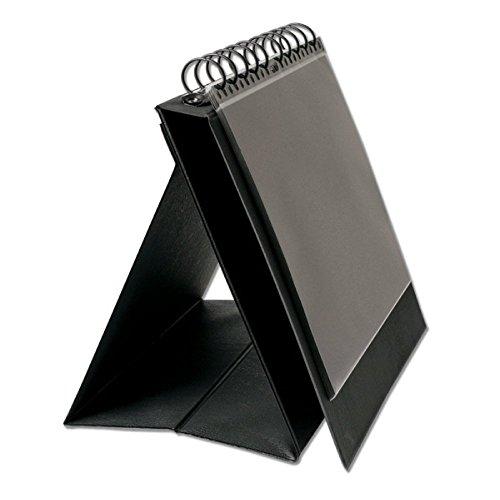 Prat Display Easel Binder, Laminated Cover with Multi-Ring Binder, 10 Sheet Protectors, Horizontal Presentation, 8.5 X 11 inches, Black (SE-11)