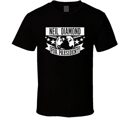 Ice-man The Neil Diamond For President Rock and Roll Hall Of Fame T Shirt Black