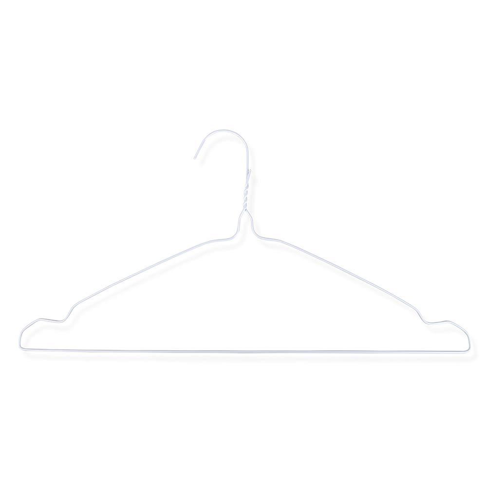 Schramm® 50 Stück Drahtkleiderbügel weiß Kleiderbügel Metallkleiderbügel Metall