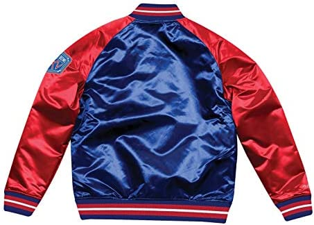 3683af247f3 Mitchell   Ness New York Giants NFL Tough Season Premium Satin Jacket.  Loading Images.