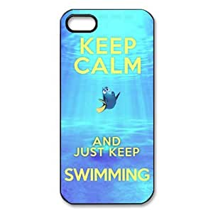 Treasure Design Funny Keep Calm and Just Keep Swimming Redux APPLE iphone 5c Best Durable Case