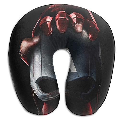 (HomeYdecor Civil War Captain America Soft Memory Foam U-Shaped Pillows Travel Outdoor Portable Pillow Neckrest Travel Folding Pillow)