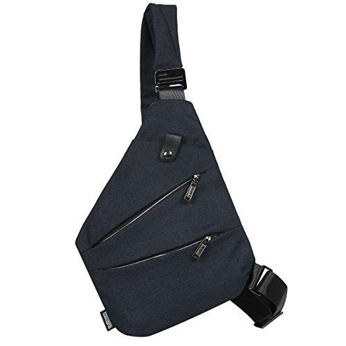 8c012b9ff880 [キャット ハンド] 極薄 ワン ショルダー スリング バッグ 撥水 キャンバス 薄い ボディバッグ