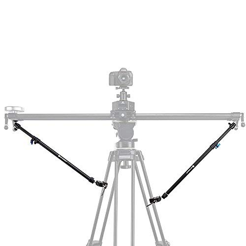 Price comparison product image Tripod Stability Arms for Slider (2 Arms in) Tripod Brace Support for Camera Slider Extended Stability
