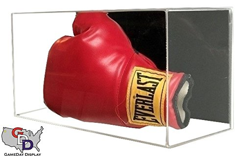 GameDay Display Acrylic Wall Mount Horizontal Boxing Glove Display Case by