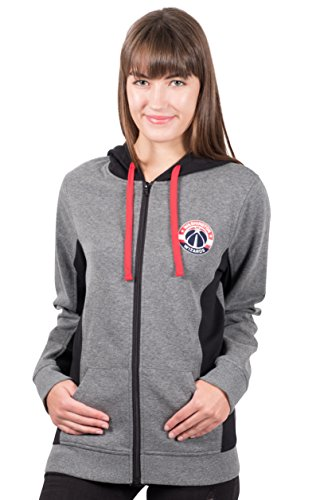 NBA Women's Full Zip Hoodie Sweatshirt Jacket Dime, Team Logo Gray – DiZiSports Store