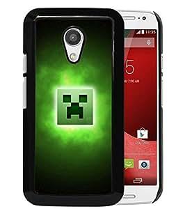 For Motorola Moto G (2nd generation),Minecraft 33 Black Protective Case For Motorola Moto G (2nd generation)