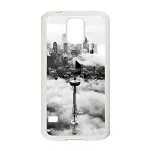 Seattle Space Needle Tower Samsung Galaxy S5 Cell Phone Case White&Phone Accessory STC_983182