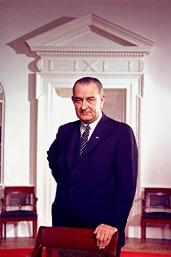 ymaotrade Lyndon Johnson Presidential Portrait 1963 Mural Giant Poster 24X36 -