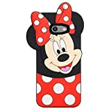 Allsky Case for Samsung Galaxy J3 Emerge/J3 Prime/J3 Mission/J3 Eclipse,Cartoon Soft Silicone Cute 3D Cool Cover,Kawaii Unique Kids Girls Teens Animal Character Cases for Galaxy J3 2017 Minnie Mouse