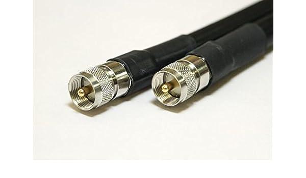 Cable coaxial LMR 600 con Conectores PL259 WP-HST, Baja pérdida y ...