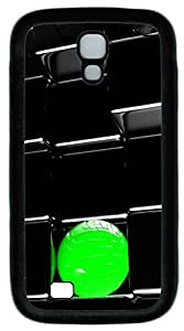 Samsung Galaxy S4 I9500 Cases & Covers - Green Ball And Black Art TPU Custom Soft Case Cover Protector for Samsung Galaxy S4 I9500 - Black