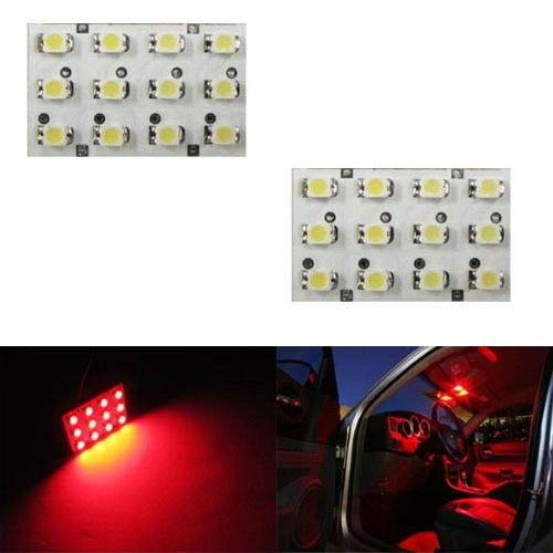 iJDMTOY 12-SMD LED Interior Map Dome Panel Lights, Brilliant Red