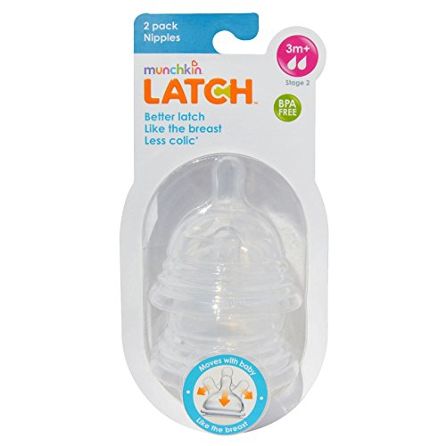 Munchkin Latch, Stage 2 Nipples, 2 Pack