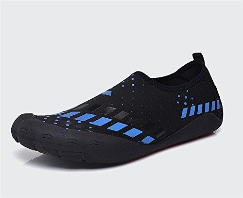 XIE Zapatos de Cinco Dedos Resistentes al Desgaste y Transpirables al Aire Libre, Zapatos de Punta de Aguas Rectas Upstream 39-45 Black Blue