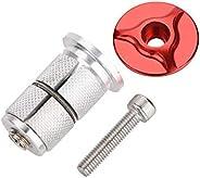 Bike Headset Top Cap Cover Expander Plug, Bicycle Stem Headset Fork Expander Headset Cap Screws Bolt Aluminum