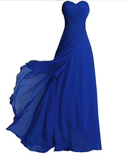 (FAIRY COUPLE Chiffon Strapless Bridesmaids Dress D0072 (US12,Royal Blue))