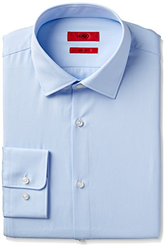 HUGO+Hugo+Boss+Men%27s+Dress+Shirt%2C+Blue%2C+15.5%22+Neck+32%22-33%22+Sleeve