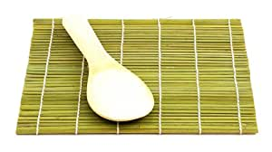 Helen Chen's Asian Kitchen Bamboo Sushi Mat with Paddle