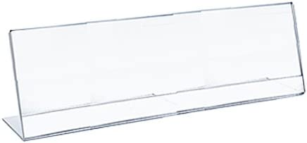 Azar 112761 8.5-Inch Width by 3.5-Inch Height Horizontal Nameplate Acrylic Sign Holder, 10-Pack