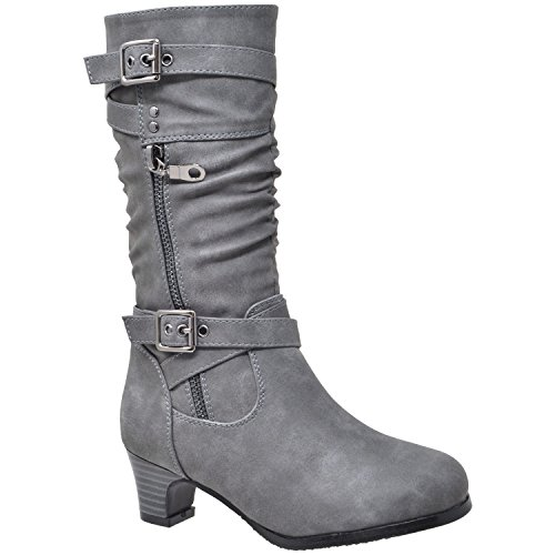 Generation Y Kids Girls Knee High Boots Ruched
