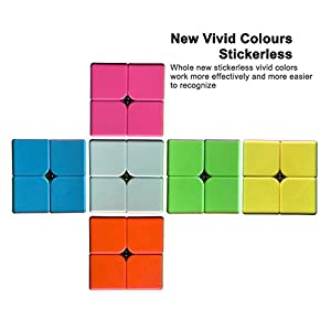 CFMOUR Speed Cube Set 2x2 3x3 Rubiks Cube Magic Speed Cube Bundles Puzzles Stickerless Toys (2 Pack)