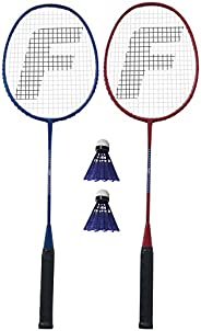 Franklin Sports 52020 Red, White and Blue 2 Player Badminton Racket Set
