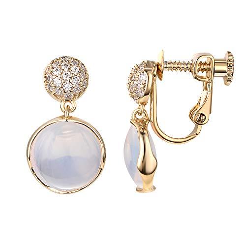 Yoursfs Clip On Dangle Earrings For Women Wedding Bridal Crystal Clip-On Earrings (Light Clip ()