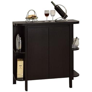 Monarch Specialties Cappuccino Finish Bar Cabinet