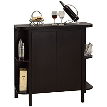 Attractive Monarch Specialties Cappuccino Finish Bar Cabinet