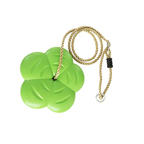 (ZY Rope Swing Disc Swing for Children, Plastic Flower Petals Swing Chair, Environmental Protection and Safety Can Be Rotated 360 Degrees)