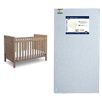 Amazon.com: Serta Cali 4-in-1 Convertible Crib, whitewash ...