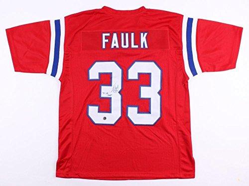 Kevin Faulk Signed Jersey - Throwback 3x SB Champ - Autographed NFL Jerseys
